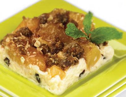 Apple Streusel Rice Pudding