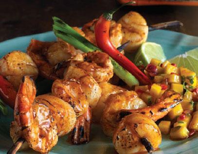 Baja Chipotle Scallop & Shrimp Skewers