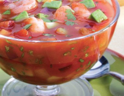 Citrus Shrimp Gazpacho