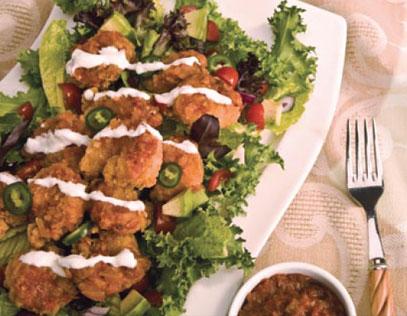 Crispy Roasted Chipotle Shrimp Salad