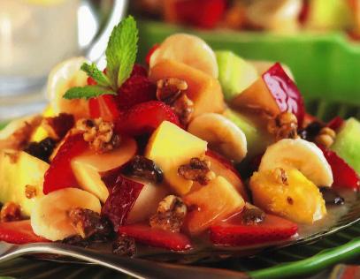 Fresh Fruit Salad with Raspberry Vinaigrette