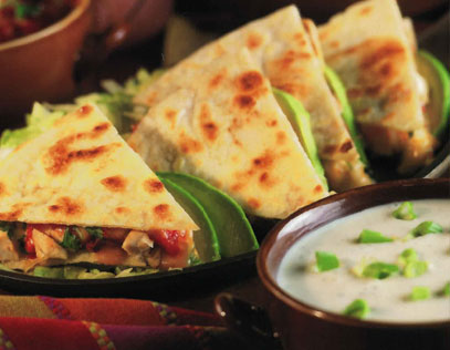 Grilled Ranch Chicken Quesadillas