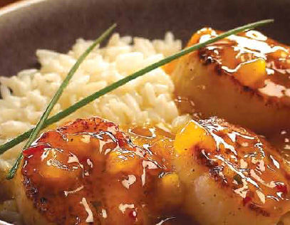 Sea Scallops with Pineapple Curry Sauce