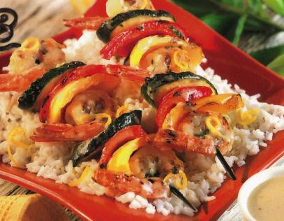Shrimp & Pepper Kabobs