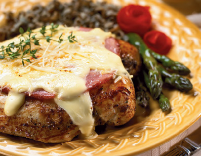Unrolled Chicken Cordon Bleu