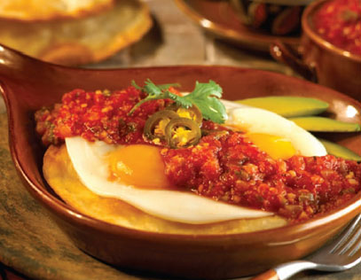 Huevos Rancheros with Roasted Tomato Salsa